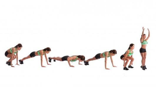 Push Up Burpee Example